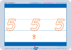 School Readiness package for QLD, School Readiness number worksheets for QLD Modern Cursive Font