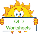 QLD Modern Cursive Font Handwriting Worksheets.