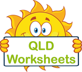 QLD handwriting worksheets and flashcards for children in QLD, QLD Modern Cursive Font, Q Cursive