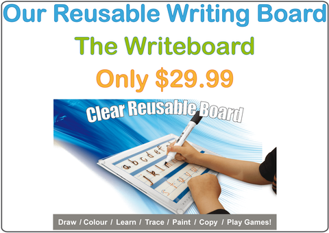 Our Reusable Writing Board is included in all of our Kits!
