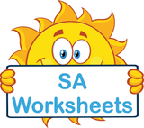 SA handwriting worksheets and flashcards for children in SA, SA Modern Cursive Font