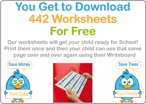 School Readiness for VIC, NT & WA include 442 pages of Free Worksheets & Flashcards