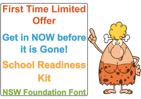 School Readiness Kit for NSW and ACT. School Readiness Kit for NSW Foundation Font.