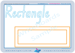 NSW Foundation Font Shape and Colour Worksheets and Handwriting Kit for Special Needs Kids.