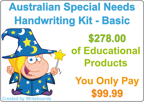 Special Needs Handwriting Kit for Australian Kids, Special Needs Handwriting program.