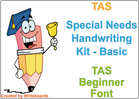 Special Needs Handwriting Kit for TAS Modern Cursive Font, TAS Special Needs Educational Package