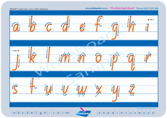 NSW & ACT Supreme Starter Pack lowercase letters with directions.