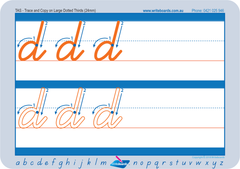 School Starter handwriting worksheets for TAS, TAS Modern Cursive Font school starter handwriting worksheets