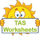 TAS handwriting worksheets and flashcards for children in TAS, TAS Beginner Font