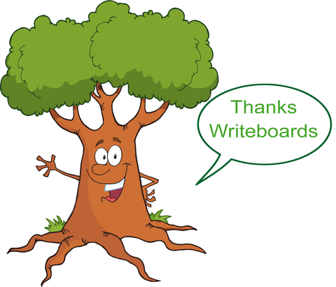 Writeboards clear reusable writing board is saving millions of trees