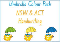 Umbrella Colour Pack NSW & ACT Handwriting