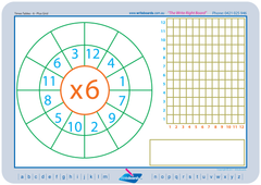 Universal Maths 6 times times tables.