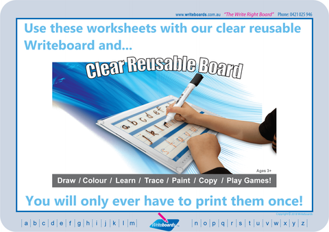 When you use Writeboards clear reusable writing board you only have to print the page once.
