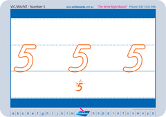 VIC Modern Cursive Font Special Needs Number Worksheets and Handwriting Kit.