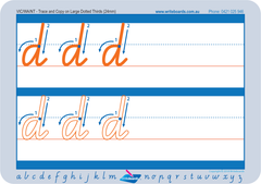 School Readiness alphabet handwriting worksheets for QLD, QLD Modern Cursive Font school readiness handwriting worksheets