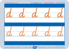 VIC Modern Cursive Font School Starter Kit includes uppercase and lowercase alphabet and number worksheets.
