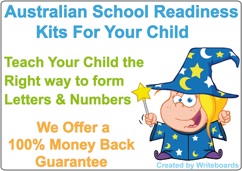 Writeboards School Readiness Kits Teach Your Child the Right Way to Form Letters and Numbers