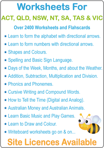 Australian Worksheets for Teachers