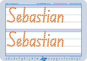 Teach your child how to write their name using NSW Foundation Font for NSW and ACT