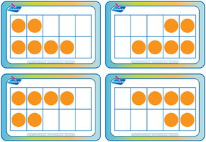 Subitising flashcards on 10 grids for Occupational Therapists and Tutors