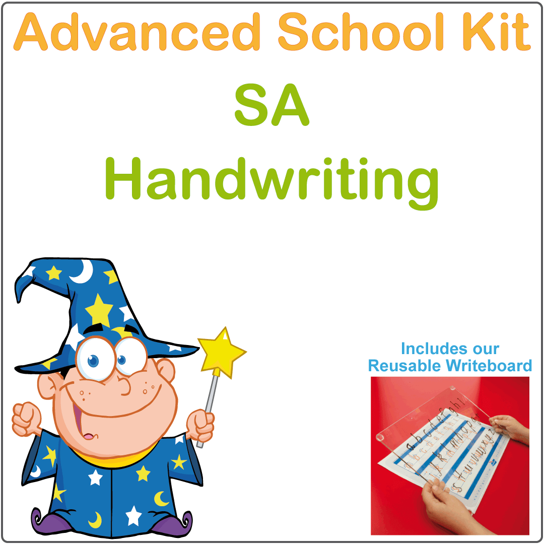 SA Advanced Handwriting Kit for SA Kids, SA Modern Cursive Font Handwriting Kit