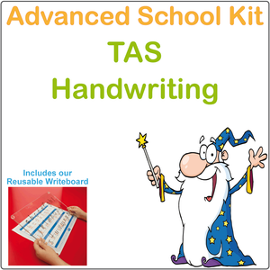 TAS Advanced Handwriting Kit for TAS Kids, TAS Modern Cursive Font Handwriting Kit