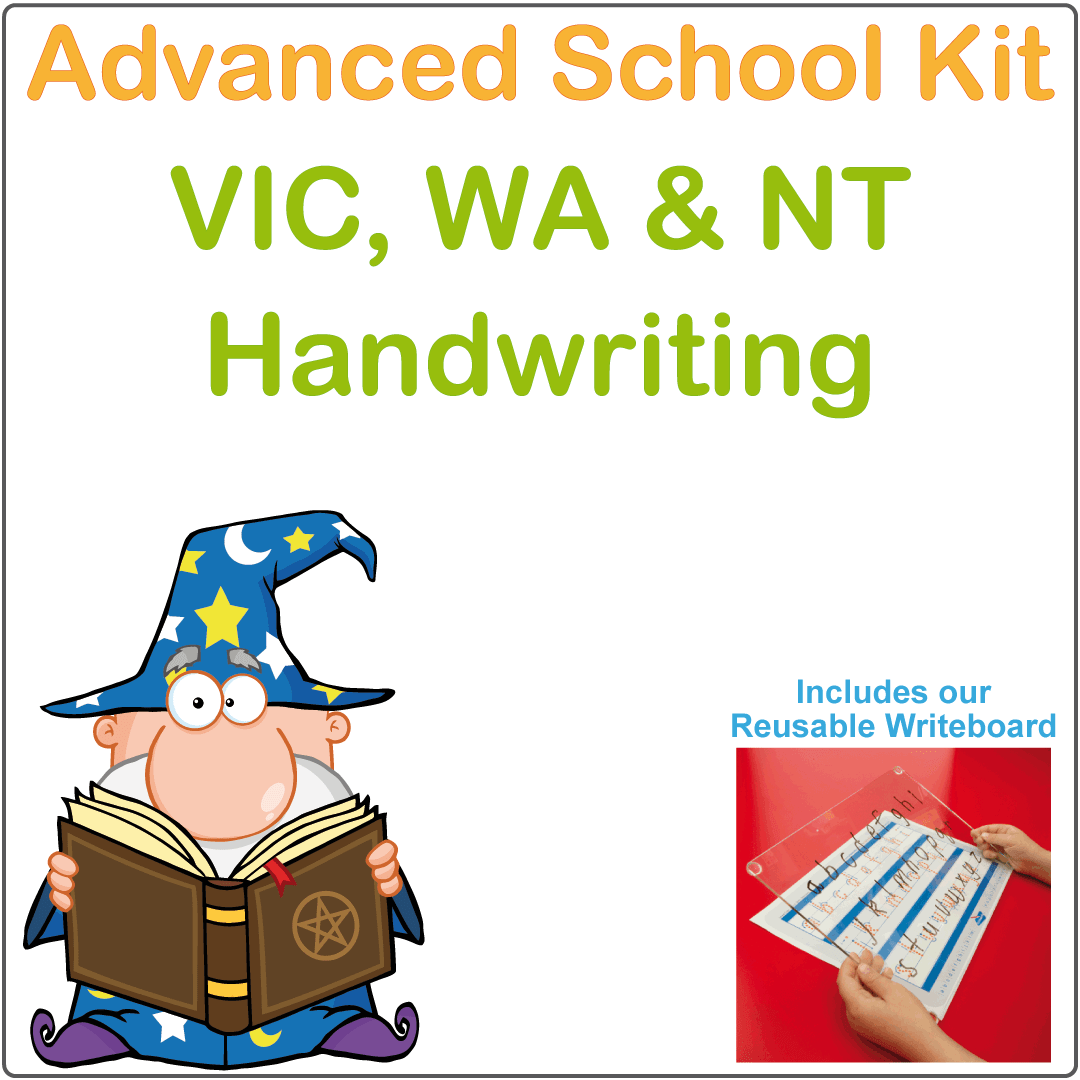 VIC Handwriting Advanced Kit for VIC Kids, VIC Modern Cursive Font Handwriting Kit