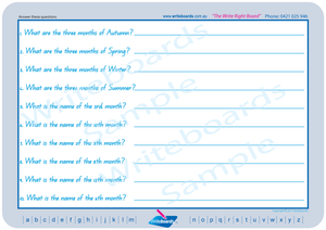 Special Needs QLD Modern Cursive Font worksheets that are all about today