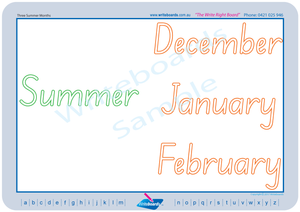 SA Modern Cursive Font seasons of the year for teachers, SA Teachers Resources