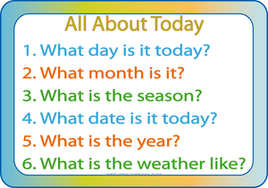 SA Learn Everything about Today, Learn about days and weeks, months and seasons, weather and years