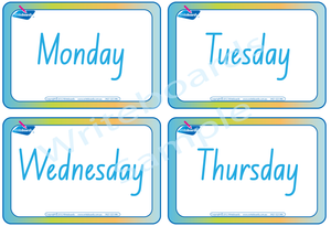 NSW and ACT Days of the Week for Childcare and Preschools, NSW and ACT Childcare Resources