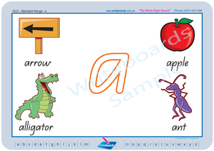 QCursive Alphabet handwriting worksheets, QCursive Beginner Alphabet Worksheets and Flashcards