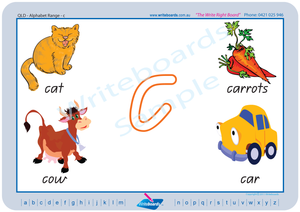 QLD Modern Cursive Font Alphabet Handwriting Worksheets for Tutors and Occupational Therapists