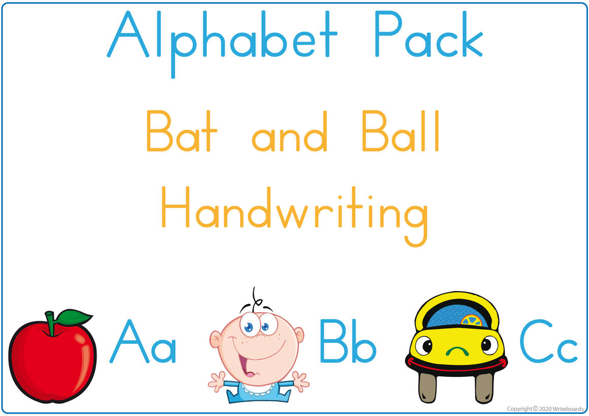 Learning My Alphabet - Bat and Ball Handwriting