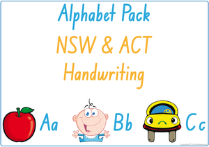 Busy Book Alphabet for NSW & ACT Handwriting, NSW & ACT Alphabet Busy Book Pack