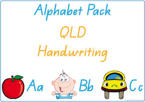 Busy Book Alphabet for QLD Handwriting, QLD Alphabet Busy Book Pack