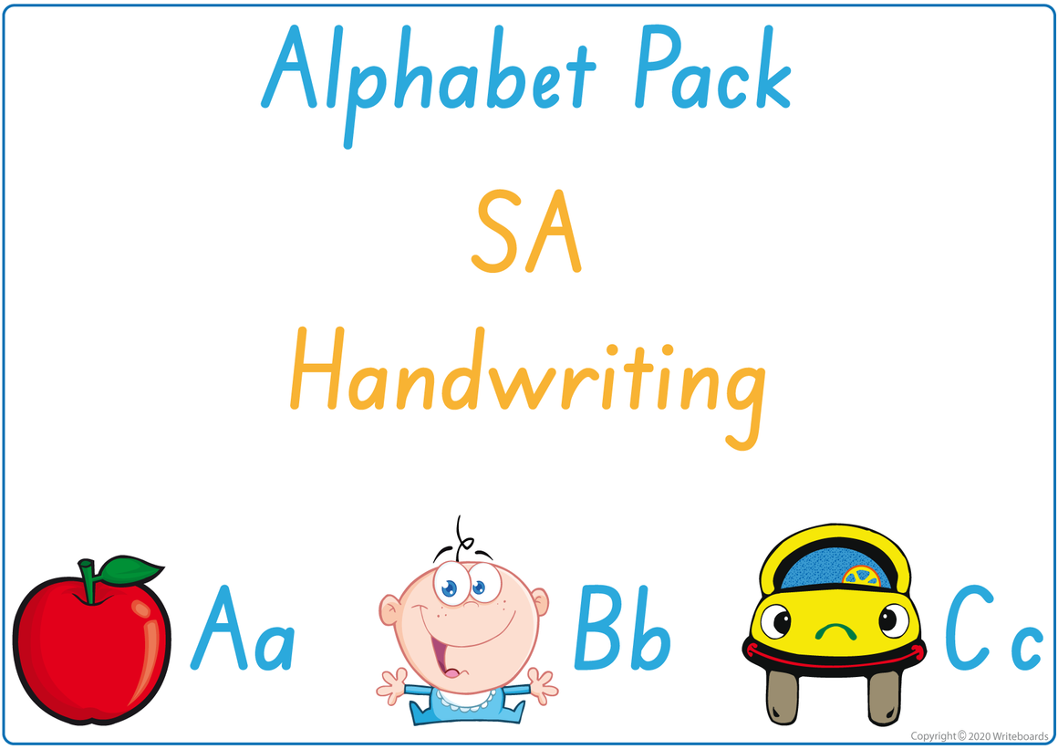 Busy Book Alphabet for SA Handwriting, SA Alphabet Busy Book Pack