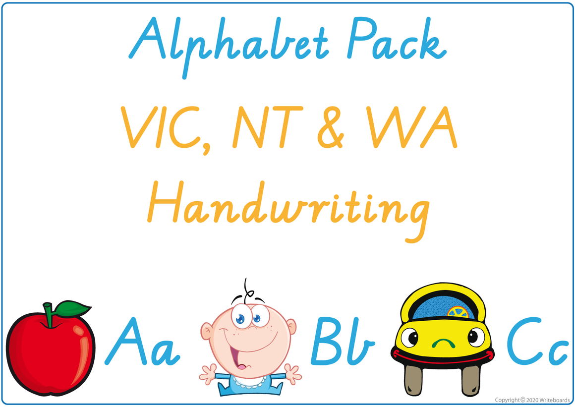 Busy Book Alphabet for VIC, NT & WA Handwriting, Alphabet Busy Book for VIC/WA & NT