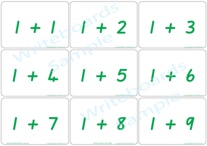 Special Needs Educational Arithmetic Bingo Game using QLD Modern Cursive Font handwriting
