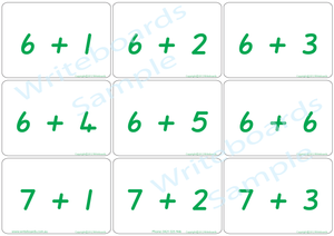 QLD Beginners Font Educational Bingo Game, QLD Beginners Font Addition Flashcards