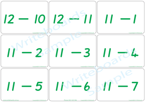 QLD Beginners Font Educational Bingo Game, QLD Beginners Font Subtraction Flashcards