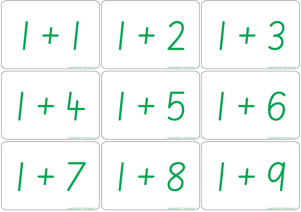 Arithmetic Bingo Game. Subtraction and Addition to Twelve completed in SA Modern Cursive Font Handwriting.