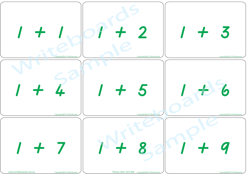 Arithmetic Bingo Game. Subtraction and Addition to Twelve completed in TAS Beginner Font Handwriting.