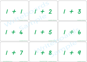 Arithmetic Bingo Game using TAS Modern Cursive Font for Tutors and Therapists
