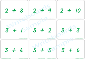 Educational Arithmetic Bingo Game using TAS Modern Cursive Font handwriting, TAS addition and subtraction
