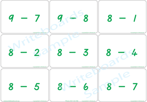 TAS Maths bingo game for Childcare and Kindergarten, TAS Modern Cursive Font Maths Bingo Game