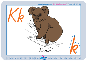 TAS Modern Cursive Font Australian Animal Alphabet Worksheets for teachers, Early Stage One Resources and worksheets