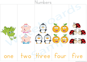 Busy Book Number pack where Your Child has to add the Missing Numbers