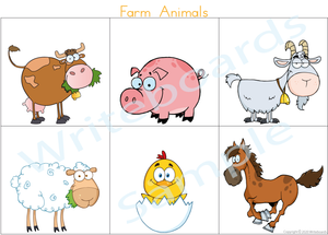 Farm Animal Busy Book where your child has to add the names