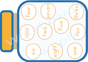 Teach your child the names of numbers From 1 to 10 with our Busy Book